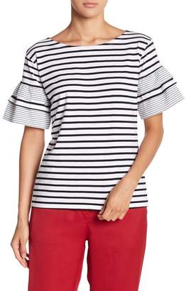 Romeo & Juliet Couture Striped Bell Sleeve Tee