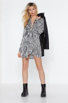 Nasty Gal Our Stripe of Girl Zebra Dress