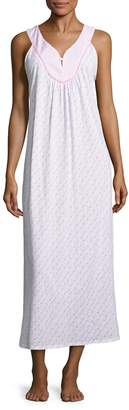 Midnight by Carole Hochman Women's Cotton Printed Long Gown