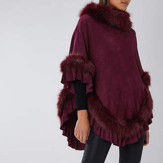 Coast MCWILLIAMS FAUX FUR PONCHO