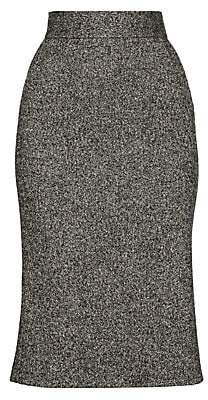 Dolce & Gabbana Women's Virgin Wool-Blend Midi Skirt