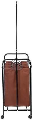 Yosoo YOSOO 3 Durable Detachable Bags Removable Laundry Sorter Cart Sorting Trolley Cart with Clothes Rod Coffee