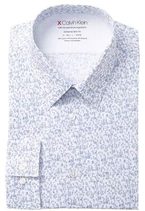 Calvin Klein Print Stretch Slim Fit Dress Shirt