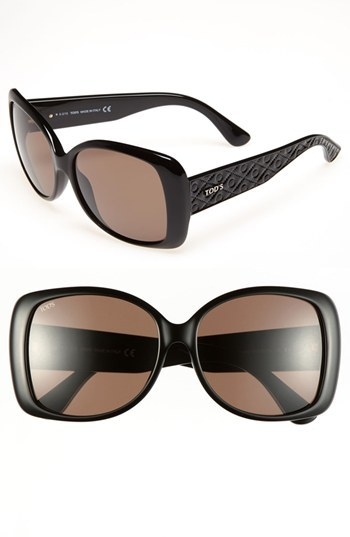 Tod's 58mm Square Sunglasses