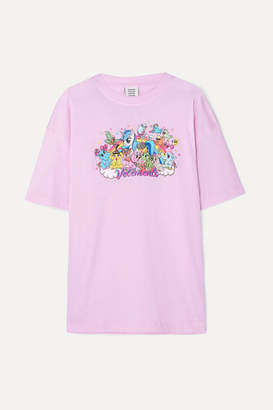 Vetements Oversized Printed Cotton-jersey T-shirt - Pink