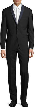 John Varvatos Solid Slim-Fit Wool Suit