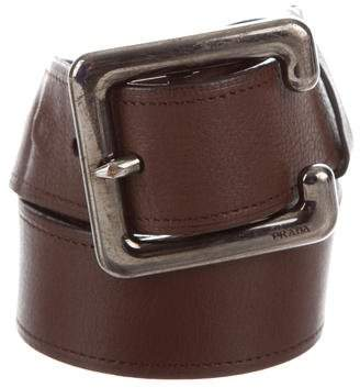 Prada Leather Wide Belt