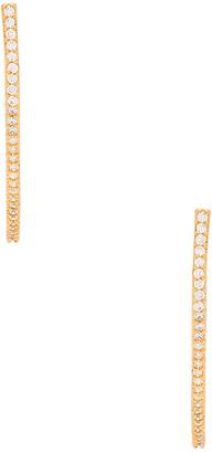 gorjana Shimmer Half Hoops Earring $50 thestylecure.com