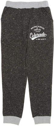 Crocs (クロックス) - crocs apparel ロゴプリント 配色リブ ジョグパンツ チャコールグレー 110