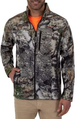 Mossy Oak and Realtree Mens Long Sleeve Bonded Full Zip Jacket