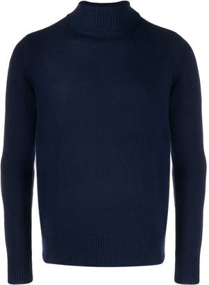 Majestic Filatures ribbed roll-neck jumper