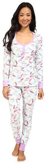 BedHeadBedHead Long Sleeve Classic Henley Pajama Set