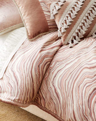 "Sweet Dreams Geod"" Queen Duvet with Velvet Piping"""