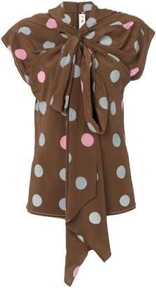 Marni polka-dot bow blouse