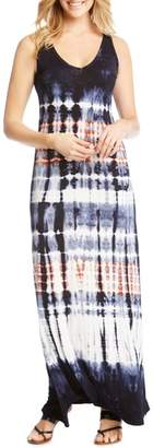 Karen Kane V-Neck Tie Dye Maxi Dress