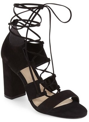 Vince Camuto 'Wendell' Block Heel Ghillie Sandal $128.95 thestylecure.com
