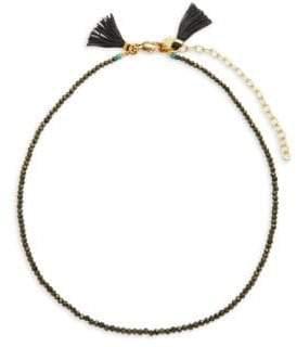 Shashi Lola 18K Gold-Plated Beaded Choker Necklace