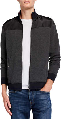 Neiman Marcus Men's Mock Bomber Jacket with Nylon Yoke