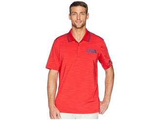 adidas Ultimate Heather USA Polo Men's Clothing