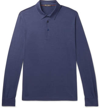 Loro Piana Silk And Cotton-Blend Jersey Polo Shirt
