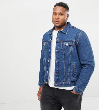 New Look Plus Denim Western Jacket In Blue