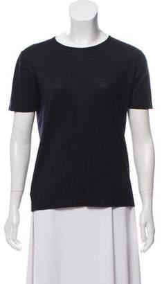 TSE Wool Short Sleeve Top