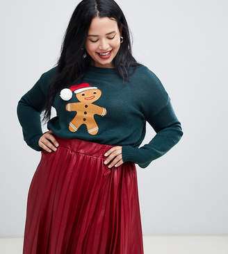 Brave Soul Plus gingerbread christmas sweater