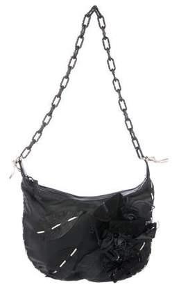 Valentino Floral Appliqué Shoulder Bag