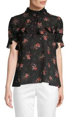 Laundry by Shelli Segal Floral-Print Ruffle Top