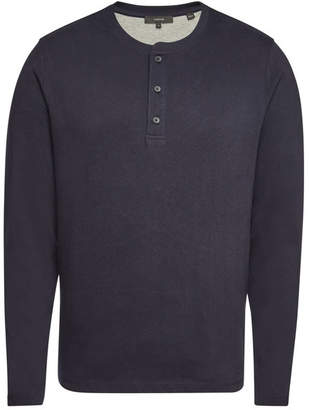4c18fd08 Mens Long Sleeve Fitted Henley Tops - ShopStyle