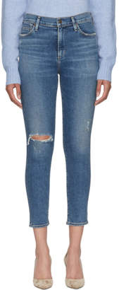 Citizens of Humanity Blue Rocket Crop Skinny Jeans
