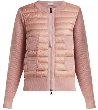 Moncler Wool And Quilted Shell Jacket - Womens - Pink
