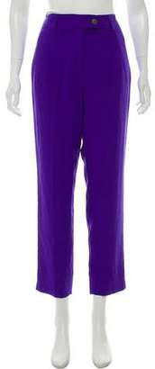 Creatures of Comfort Silk Mid-Rise Straight Leg Pants