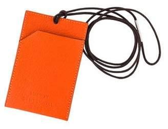Hermes Petit h Chevre Lanyard Card Holder