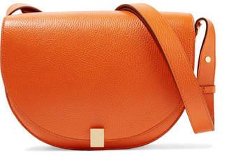 Victoria Beckham Half Moon Box Textured-leather Shoulder Bag - Orange