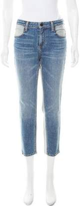 Alexander Wang Denim x Cropped Mid-Rise Jeans