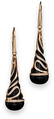Bloomingdale's Diamond and Black Onyx Drop Earrings in 14K Rose Gold, .35 ct. t.w. - 100% Exclusive