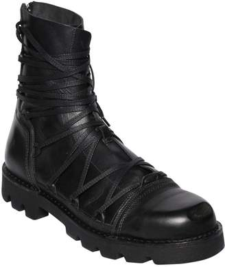 Diesel Lace-Up Leather Combat Boots