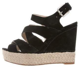 KORS Ankle Strap Cutout Wedges