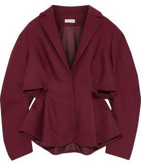 DELPOZO Tie-Back Wool And Silk-Blend Jacket