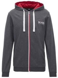 BOSS Hugo Heavy-jersey loungewear jacket bicolored zipper L Grey