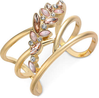 INC International Concepts I.n.c. Multi-Stone Flower Cuff Bracelet, Created for Macy's