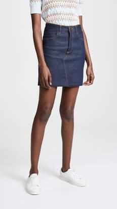 Victoria Beckham Victoria Raw Hem Miniskirt