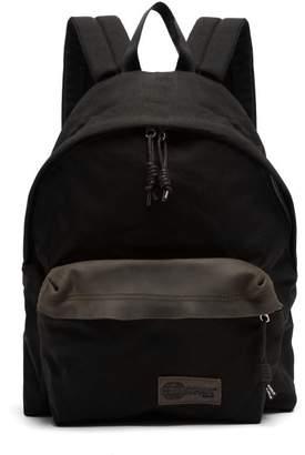 Eastpak - Leather Trimmed Canvas Backpack - Mens - Black