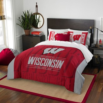 NCAA Wisconsin Badgers Modern Take Full/Queen Comforter Set by Northwest