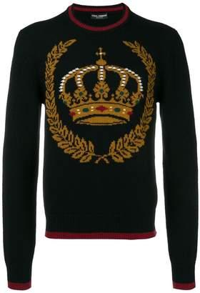 Dolce & Gabbana intarsia crewneck sweater