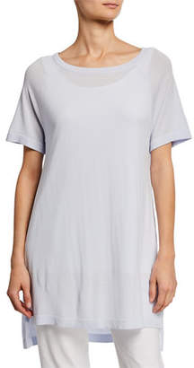 Eileen Fisher Plus Size Scoop-Neck Short-Sleeve Tunic