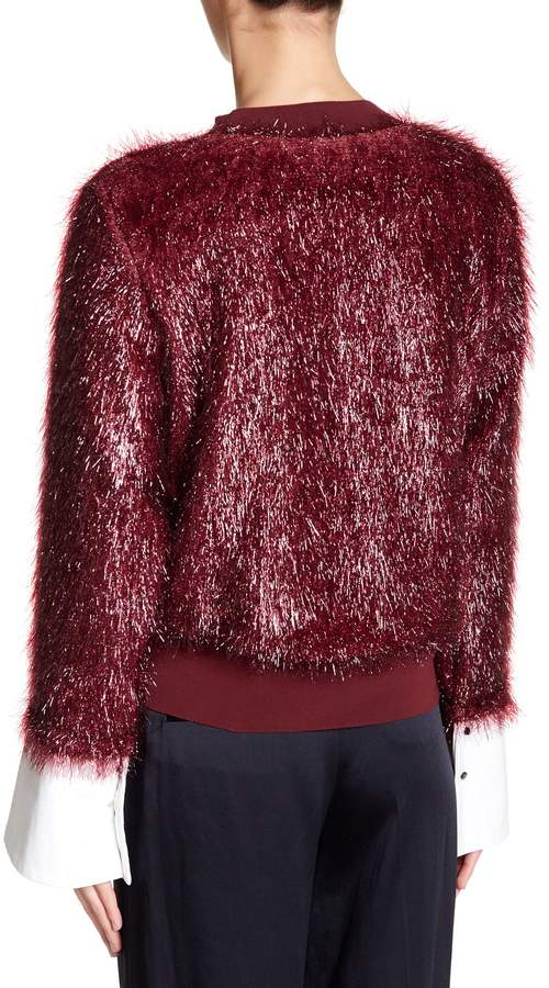 TOV Lustrous Faux Fur Sweatshirt 7