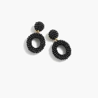 J.Crew Mini beaded drop-hoop earrings