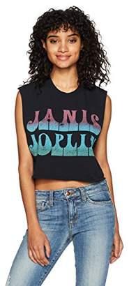 Goodie Two Sleeves Junior's Janis Joplin Gradient Text Logo Tank